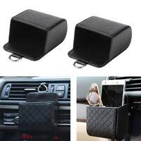 BIN Car Vehicle storage bucket Auto Outlet Vent Trash Mobile Phone Holder