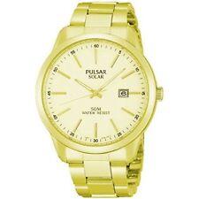 Relojes de pulsera solares de oro de hombre