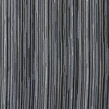 E230 Black Silver Beige Abstract Striped Contract Upholstery Fabric By The Yard