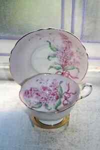 Vintage Paragon Tea Cup and Saucer Pink Lilacs