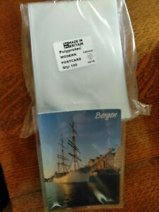 """50 Polyprotec 6.5"""" x 4.5"""" Sleeves for Modern Postcards suit 6"""" x 4"""" Photographs"""