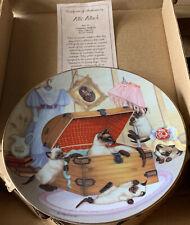Attic Attack Cat Plate Country Kitt 00004000 ies 1988 Hamilton plate Gre' Gerardi 2511E