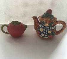 Miniature Strawberry Teapots 2