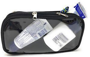 Clear Window Bag Kit Travel Organizer TSA Accessories Toiletry Cosmetics Makeup