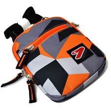 Tracolla porta oggetti regolabile SEVEN tempo libero 2 tasche con zip arancione
