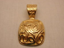 """Pendant Pearl Necklace Enhancer Gold MCM Modernist Design Norma Jean Jewelry 2"""""""