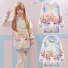 Lolita Cute Girl & Rabbit Harajuku Casual Long Sleeve Hoodie Sweatshirt Sweater