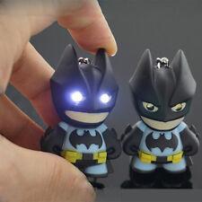 1 PC Cute LED Batman luminous voice pendant Cartoon Plastic creative keychain C