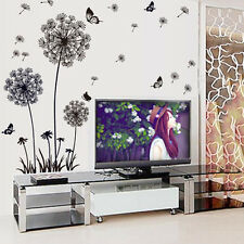 3D DIY Dandelion Fly Mural Butterfly Decal Room Wall Sticker Home Deco Vinyl Art