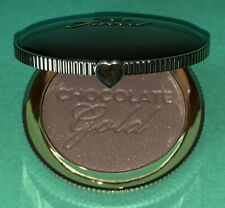 Too Faced Chocolate Gold Soleil Long Wear Gilded Bronzer Luminous Full Size New