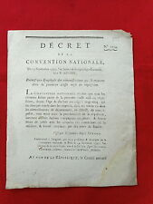 555 LOI & DECRET CONVENTION NATIONALE 1793 EMPLOYÉ ADMINISTRATION RÉQUISITION