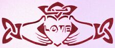 Celtic Knot / Hands holding Love Word Heart Stencil Religious Hearts Stencils