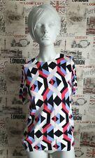 Marks&Spencer Multicoloured Geometric Print Short Sleeve Top size 14 UK