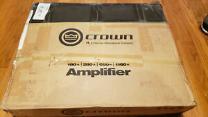 NEW Crown 280A 2 Channel Power Amplifier NEW in factory sealed box.