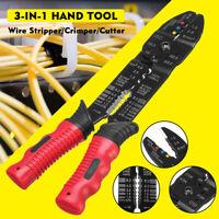 Professional Wire Striper Cutter Stripper Crimper Pliers Electric Cable Cut Tool
