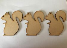 10 x Bois Craft forme écureuil