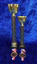 1st, 2nd, 2 x 3rd Martial Arts Trophies Medals Set Tournament FREE engraving