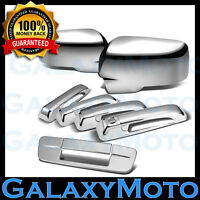 Chrome Mirror+4 Door Handle+Tailgate no KH no CM Cover for 09-18 Dodge Ram