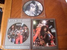 "kiss 2+ x 7"" rectangular interview 7"" picture disc vinyl single gene simmons"
