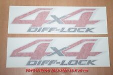 GENUINE STICKER HILUX REVO 2015 4 X 4 DIFF-LOCK SIZE 35X10 cm FROM TOYOTA