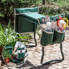 Folding Garden Kneeler Bench Stool Kneeling EVA Pad Seat w/2 Extra Thicken Pouch