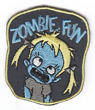 """""""ZOMBIE FUN"""" IRON ON PATCH - ZOMBIES - SCARY - FUN - DANCE - HALLOWEEN - PARTY"""