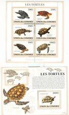 TARTARUGHE MARINE - TURTLES COMORO IS. & WWF 2009 s+b