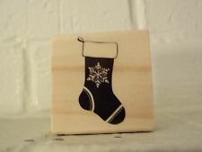 "Craft Smart Christmas Wood Stamps ""Christmas Stocking"" 2"" x 2"" So Adorable & Fun"