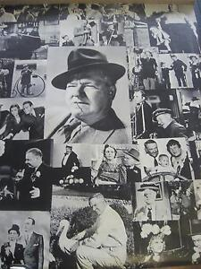 WC Fields collage  vintage wall  poster PBX418