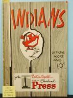 1951 Cleveland Indians Baseball Program v Detroit Tigers UNS. C7007
