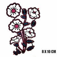 Remembrance Poppy Flower Metal Cutting Dies Stencil DIY Scrapbooking Card Craft