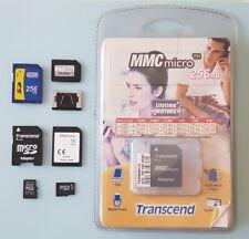 MMC MC SD MicroSD Mobile Card Memory card  16 , 64 , 128 , 256 MB