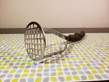 Vtg Cutco USA Wood Grain Handled Stainless Masher Kitchen Utensil Tool! GVC*****