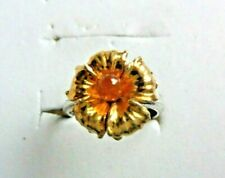 Orange Spessartine  garnet ring size 6.5