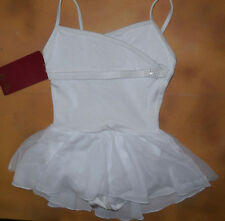 NWT Dance Mirella White Skirted Camisole Leotard Dress Small Child 4/6 M221C