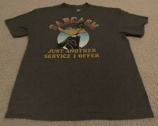 """Looney Tunes Daffy Duck """"Sarcasm Just Another Service I Offer"""" Men's Large Shirt"""