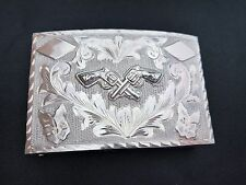 Pistols Sterling Silver Mexico Belt Buckle