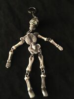 Vintage 1990's Dangling Skeleton Keychain New From Colllection Fast Shipping