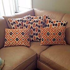 Aztec Southwestern Mod Lifestyles Feather Pillow Set 70's Retr and Design Lumbar