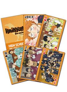 Haikyu!! 2nd Season Spielkarten Pokerkarten  offiziel lizenziert Manga
