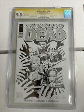 Walking Dead #112 2013 Image Expo Sketch CGC 9.8 SS Signed by Kirkman/Adlard
