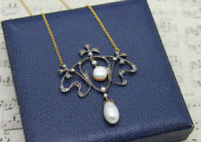 9 Carat Pearl Necklace/Choker Victorian Fine Jewellery