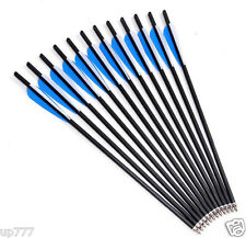 """12Pcs 20"""" Crossbow Bolts Carbon Arrows Archery Hunting Carbon Shaft Spine Strike"""