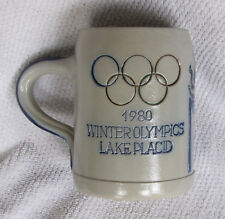 "Vintage 1980 Winter Olympics Lake Placid Figure Skating Goebel Germany 5"" Mug"