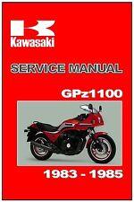 KAWASAKI Supplement Manual ZX1100 GPz1100 1983 1984 and 1985 Workshop Repair