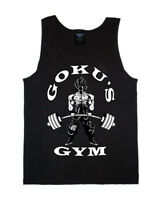 Goku Men's Tank Top Racerback Stringer Gym Bodybuilding Shirt vest Dragon Ball Z