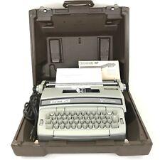 Smith Corona Coronet Super 12 Portable Coronamatic Typewriter RARE COLOR & Case