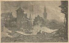 A3937 Episodio della guerra franco-prussiana_Incisione - Stampa Antica del 1889