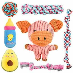 SYEENIFY Puppy Toys for Small Dogs Teething Toys for PuppiesCute Pig Toys for...