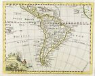 c1754 Map of South America and Islands Thomas Jeffreys engraved